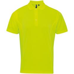 vaatteet Miehet Lyhythihainen poolopaita Premier PR615 Neon Yellow
