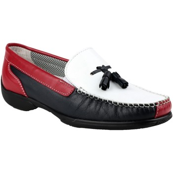 kengät Naiset Mokkasiinit Cotswold BIDDLESTONE White/Navy/Red