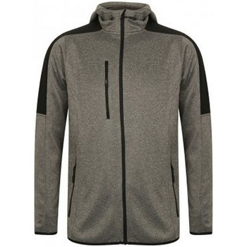 vaatteet Miehet Fleecet Finden & Hales LV622 Dark Grey Marl/Black