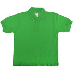 vaatteet Lapset Lyhythihainen poolopaita B And C PK486 Real Green