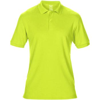 vaatteet Miehet Lyhythihainen poolopaita Gildan 75800 Safety Green
