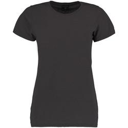 vaatteet Naiset Lyhythihainen t-paita Kustom Kit Superwash Dark Grey Marl