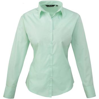 vaatteet Naiset Paitapusero / Kauluspaita Premier PR300 Aqua