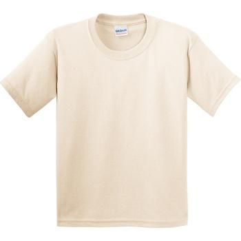 vaatteet Lapset Lyhythihainen t-paita Gildan 5000B Natural