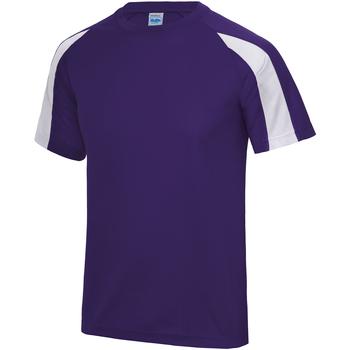 vaatteet Miehet Lyhythihainen t-paita Just Cool JC003 Purple/Arctic White