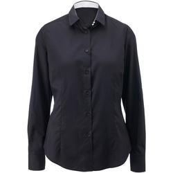 vaatteet Naiset Paitapusero / Kauluspaita Alexandra AX060 Black/ White