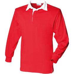 vaatteet Miehet Pitkähihainen poolopaita Front Row FR100 Red/White