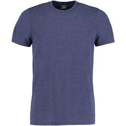 vaatteet Miehet Lyhythihainen t-paita Kustom Kit KK504 Denim Marl