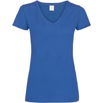 vaatteet Naiset Lyhythihainen t-paita Universal Textiles Value Cobalt
