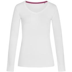 vaatteet Naiset T-paidat pitkillä hihoilla Stedman Stars  White