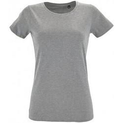 vaatteet Naiset Lyhythihainen t-paita Sols 2758 Grey Marl