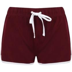 vaatteet Naiset Shortsit / Bermuda-shortsit Skinni Fit SK69 Burgundy/White