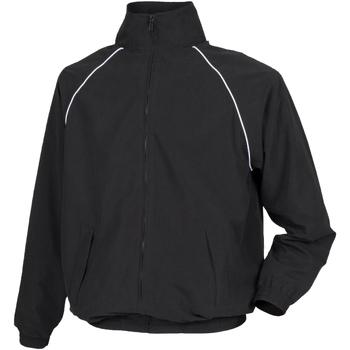 vaatteet Miehet Tuulitakit Tombo Teamsport TL400 Black/ White piping