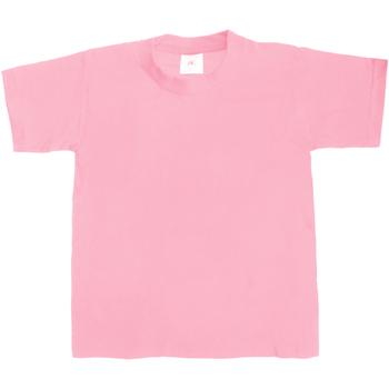vaatteet Lapset Lyhythihainen t-paita B And C TK301 Pink Sixties