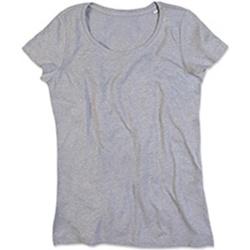 vaatteet Naiset Lyhythihainen t-paita Stedman Stars Lisa Heather Grey