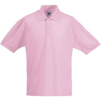 vaatteet Pojat Lyhythihainen poolopaita Fruit Of The Loom 63417 Light Pink