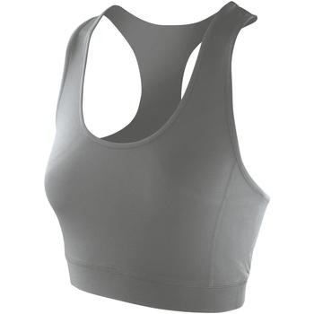 vaatteet Naiset Hihattomat paidat / Hihattomat t-paidat Spiro S282F Cloudy Grey