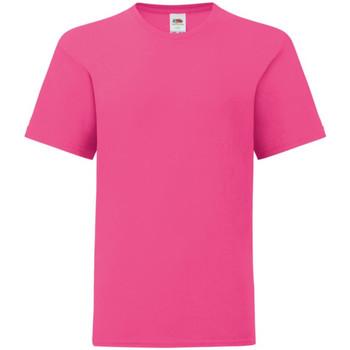vaatteet Lapset Lyhythihainen t-paita Fruit Of The Loom 61023 Fuchsia Pink