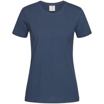 vaatteet Naiset Lyhythihainen t-paita Stedman Comfort Navy