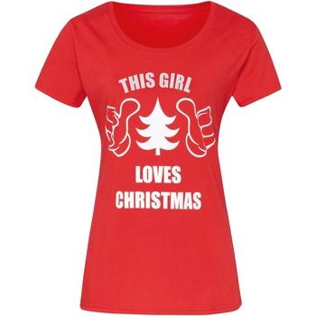 vaatteet Naiset Lyhythihainen t-paita Christmas Shop CJ212 Red