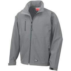 vaatteet Miehet Tuulitakit Result R128M Silver Grey