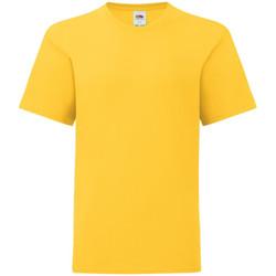 vaatteet Lapset Lyhythihainen t-paita Fruit Of The Loom 61023 Sunflower Yellow