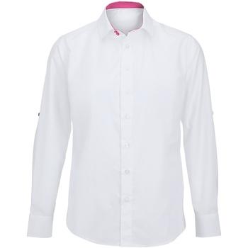vaatteet Miehet Pitkähihainen paitapusero Alexandra Hospitality White/ Pink