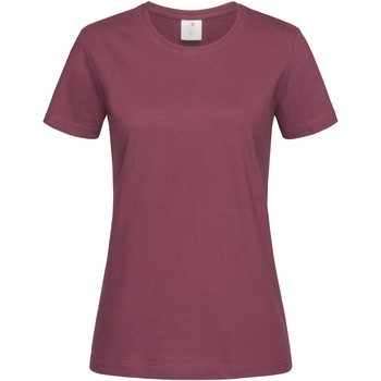vaatteet Naiset Lyhythihainen t-paita Stedman  Burgundy Red