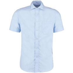 vaatteet Miehet Lyhythihainen paitapusero Kustom Kit KK115 Light Blue