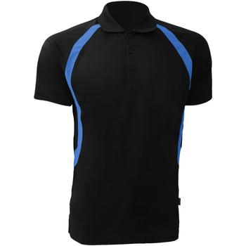 vaatteet Miehet Lyhythihainen poolopaita Gamegear Riviera Black/Electric Blue