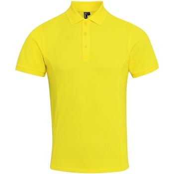 vaatteet Miehet Lyhythihainen poolopaita Premier PR630 Yellow