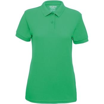 vaatteet Naiset Lyhythihainen poolopaita Gildan 75800L Irish Green