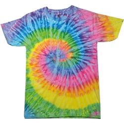 vaatteet Naiset Lyhythihainen t-paita Colortone Rainbow Saturn