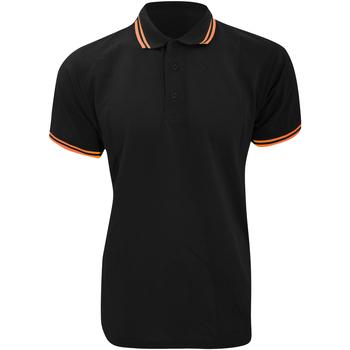 vaatteet Miehet Lyhythihainen poolopaita Kustom Kit KK409 Black/Orange