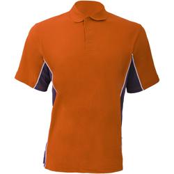 vaatteet Miehet Lyhythihainen poolopaita Gamegear KK475 Orange/Graphite/White