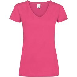 vaatteet Naiset Lyhythihainen t-paita Universal Textiles Value Hot Pink