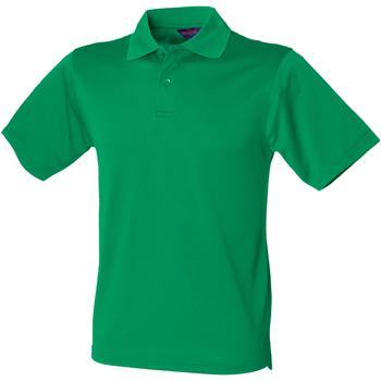 vaatteet Miehet Lyhythihainen poolopaita Henbury HB475 Kelly Green