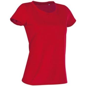 vaatteet Naiset Lyhythihainen t-paita Stedman Cotton Touch Crimson Red