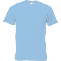 vaatteet Miehet Lyhythihainen t-paita Universal Textiles 61082 Light Blue