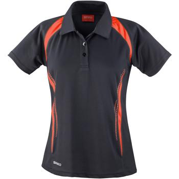 vaatteet Naiset Lyhythihainen poolopaita Spiro S177F Black/Red
