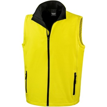 vaatteet Miehet Neuleet / Villatakit Result R232M Yellow / Black