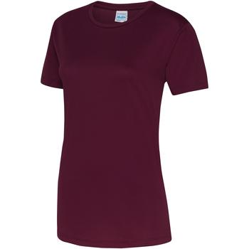 vaatteet Naiset Lyhythihainen t-paita Awdis JC005 Burgundy