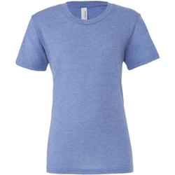 vaatteet Miehet Lyhythihainen t-paita Bella + Canvas CA3413 Blue Triblend