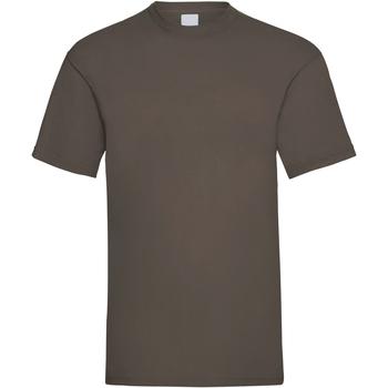 vaatteet Miehet Lyhythihainen t-paita Universal Textiles 61036 Dark Brown