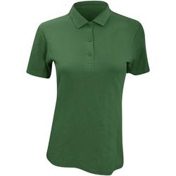 vaatteet Naiset Lyhythihainen poolopaita Anvil 6280L Forest Green