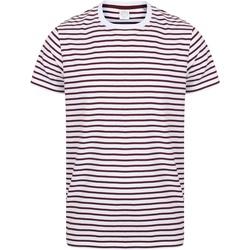 vaatteet Lyhythihainen t-paita Skinni Fit SF202 White/Burgundy