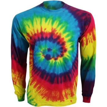 vaatteet T-paidat pitkillä hihoilla Colortone TD15M Rainbow