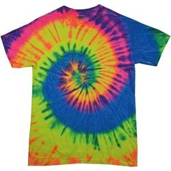 vaatteet Naiset Lyhythihainen t-paita Colortone Rainbow Neon Rainbow