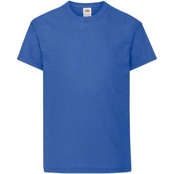 vaatteet Lapset Lyhythihainen t-paita Fruit Of The Loom 61019 Royal Blue