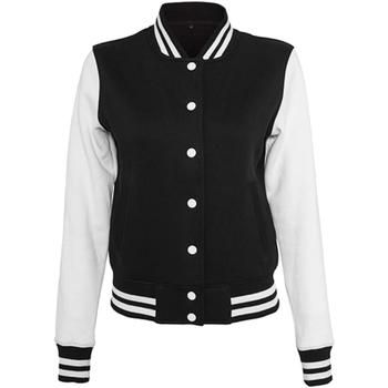 vaatteet Naiset Pusakka Build Your Brand BY027 Black/White